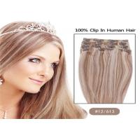 """Buy cheap Mixed Colors 10"""" 24"""" Clip In human Hair Extensions , Grade 7A Single Drawn Human from wholesalers"""