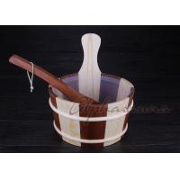 China Wooden bucket thermometer , lightweight residential sauna kits wholesale