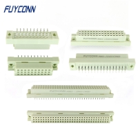 China 3 row Vertical 3*32pin 3*16pin 3*10pin Eurocard PCB Connector, PCB Straight Female 41612 Connector for PCB Board on sale
