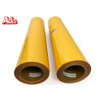 China 50cm*25m 27 yards golden yellow PU heat transfer vinyl for clothes wholesale