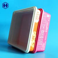 China Microwavable IML Box Small Square Plastic Containers Heat Resistant wholesale
