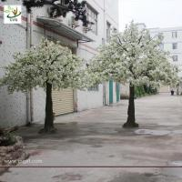 China UVG artificial white cherry flower trees for indoor wedding decoartion 12ft tall CHR023 wholesale