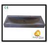 China Xiamen Kungfu Stone Ltd supply Rectangle Black Basalt Basin For Indoor Kitchen,Bathroom wholesale