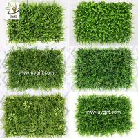 China UVG indoor and outdoor plastic boxwood mat artificial grass for walled garden decoration GRS12 wholesale