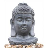 China Decorative Buddha Statue Water Fountain / Fiberglass Resin Buddha Garden Water Feature wholesale