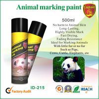 China Heat resistant spray animal marking paint with green / violet ink colors wholesale