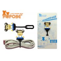 China PVC Bear Toy Mini Action Figure Headphone Cable Winder For Home / Office wholesale