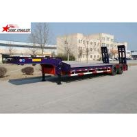 China Hydraulic Semi Low Loader Trailer , Reinforced Lowboy Heavy Equipment Trailers wholesale