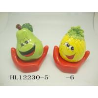 China Funny Ceramic Piggy Bank Money Box Fruit And Vegetable Shaped With Base wholesale