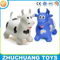 China OEM kids plastic toy jumping cow animal ride on sale