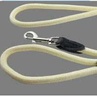 China 2.66m genuine round leather harness lead leash lightweight for dog wholesale