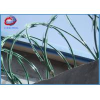 China Single Loop Razor Barbed Wire Concertina Hot Dipped Galvanized Sheet Material wholesale