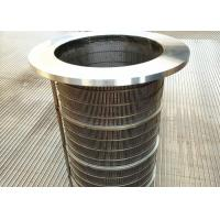 China Reverse Flange Wedge Wire Rotary Screen Drum, Filter Element Johnson Wire Screen wholesale