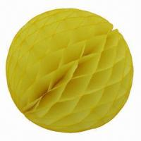 Quality Honeycomb Paper Balls, Made of Tissue Paper, Comes in 4 to 20-inch Sizes for sale