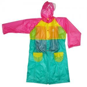 China Lovely Ladies Pvc Raincoat With Hood , Eco Friendly Rainwear wholesale