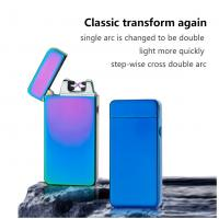 China Easy To Use Non Flame USB Rechargeable Lighter Windproof No Gas For Gift wholesale