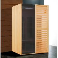 China Hemlock Wooden Home Far Infrared Sauna Room with Digital Control Panel on sale
