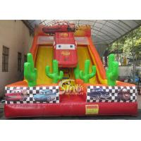 China 6m high kids extreme speed race inflatable car slide for kids outdoor entertainment wholesale