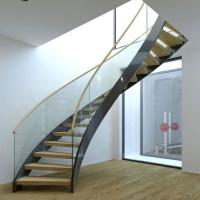 China Best Selling Stainless Steel Modular Round Curved Stairs with Customized Service wholesale