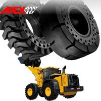 China APEX 23.5-25 Solid Tire, Cushion Tyre for Wheel Loader, Integrated Tool Carrier, Elevating Motor Scraper wholesale