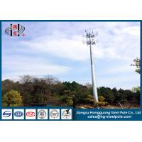Buy cheap Telecommunication Monopole Towers Outter Climbing Rung Two Platforms from wholesalers
