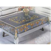 China Elegant Mill Yarn PVC Table Cloth Eco-Friendly , Protective Table Covers wholesale