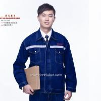 China High Quality Jeans Suit Work Protective Clothing with Flame Tape wholesale