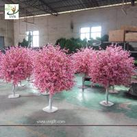 China UVG 5ft cheap artificial trees with fake peach blossoms for wedding table center pieces wholesale
