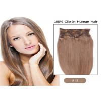 China 100% Unprocessed Brown Clip In human Hair Extensions Real Indian Virgin Hair wholesale