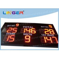 China 12 inch Digit in Red Color LED Cricket Scoreboard Hanging / Mounting Installation wholesale