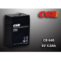 China CB640 No Leaking Sealed Lead Acid Battery 6v 4ah , High Efficiency Ups Battery wholesale