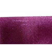 China Wall Paper Sparkle Glitter Fabric , Diy Decoration PVC Glitter Fabric wholesale