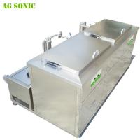 Quality Double Tanks Ultrasonic Engine Cleaner , Waterproof Engine Block Washing Machine for sale