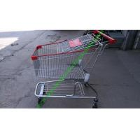 Buy cheap Silver Grocery Shopping Trolley / Metal Supermarket Shopping Cart 100Kgs from wholesalers