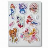China Foam and PVC Stickers, Customer's Designs are Accepted, Suitable for Decoration wholesale