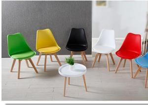 China Luxury Leisure PU Dining Chair Corrosion Resistant With Beech Wood wholesale