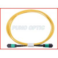 China 24 X Lanes LC Fiber Optic MPO Trunk Cable OS2 Single Mode Low Insertion wholesale