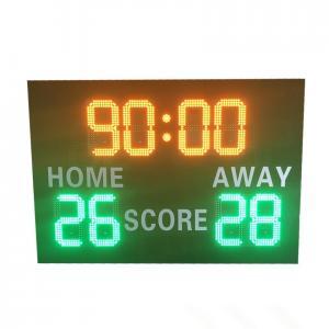 China Front Maintenance LED Football Scoreboard With Deep - Set Frame 110V ~ 220V wholesale