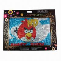 China 2012 new rhinestone laptop sticker, removable and reusable wholesale