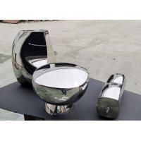China Mirror Polished Abstract Metal Sculpture Hand Art Artificial Style For Home Decoration wholesale