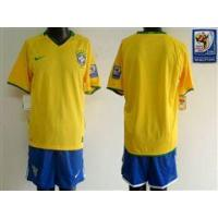 Quality World Cup Brazil Customized Yellow Soccer Jersey for sale