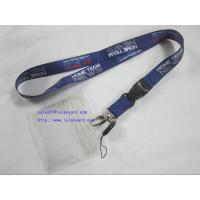 China ID Badge Card Holder Heat Transfer Lanyard With Cellphone Attachment wholesale