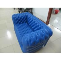 China Double Seat Blue Inflatable Sofa Chair PVC For Party Room wholesale