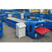Quality Wall Panel / Glazed Tile Roll Forming Machine , Auto Cold Roll Forming Equipment for sale