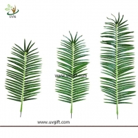 China UVG make small fake palm tree leaves in plastic fronds for indoor home decoration PTR062 wholesale
