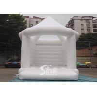 Buy cheap 5x4m commercial grade adults white wedding bouncy castle with steeple shape top from wholesalers