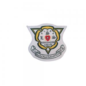 China OEM ODM Fabric 25mm School Logo Iron On Patches For Sweatshirts wholesale
