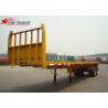 China 2- Axis 40 Foot Flat Deck Semi Trailer Baffle 8 Tires 13T FUWA Axles In Yellow wholesale