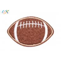 China America Felt Fabric Embroidered Sports Patches Shape Customized With Sew On Backing wholesale