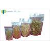 Quality Tea Laminated Plain Stand Up Pouches With Zipper , Transparent Aluminum Foil Bag for sale